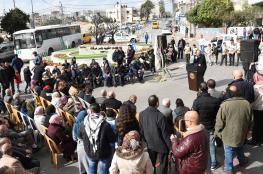 بلدية البيرة تفتتح ميدان الشهيد ياسر عرفات أمام مخيم الأمعري