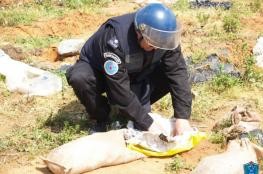 الشرطة تتلف قنبلتين يدويتين من مخلفات الاحتلال في طولكرم