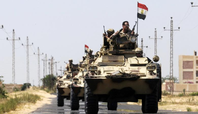 """الجيش المصري يقتل """" 11 """" مسلحا في سيناء"""