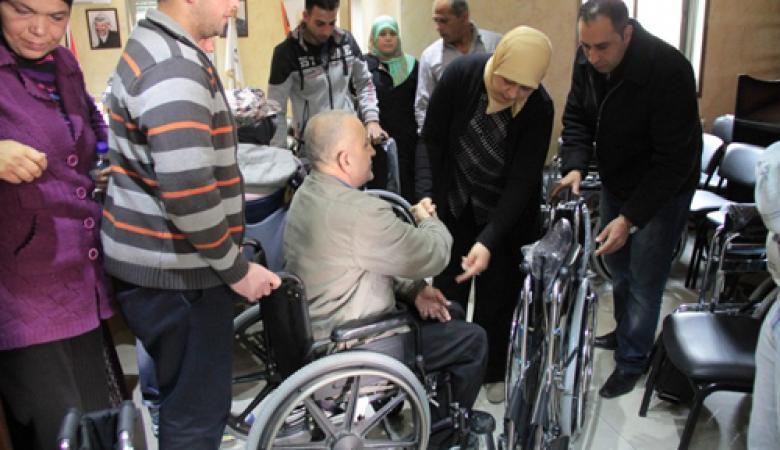 مكرمة رئاسية لعدد من الطلبة ذوي الاحتياجات الخاصة في جنين