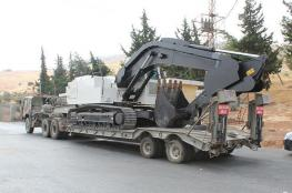 تركيا ترسل جرافات عسكرية على الحدود مع سوريا