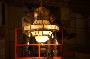 جانب من الاستعدادات في المسجد الاقصى المبارك لاستقبال الشهر الكريم