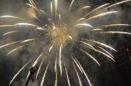 العراق.. أكثر من 200 مصاب بالالعاب النارية في بغداد