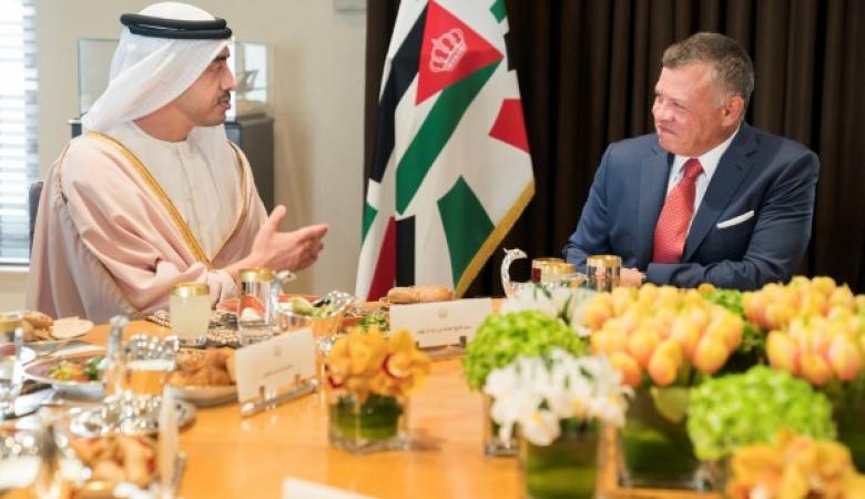 مباحثات اردنية اماراتية حول القضية الفلسطينية