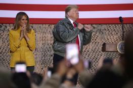 """ترامب وزوجته في زيارة مفاجئة للعراق """"صور """""""