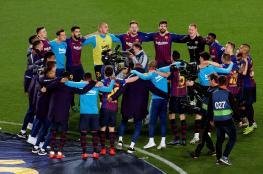 برشلونة يتوج بلقب الدوري الاسباني للمرة 26