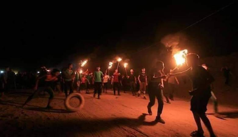وحدات الارباك الليلي تعود الى العمل من جديد على حدود قطاع غزة