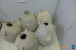 الشرطة تضبط مواد اثرية تعود للعصر البرونزوي قبل بيعها في جنين