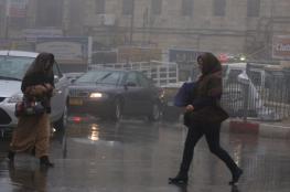 فلسطين ...جبهة باردة محملة بالأمطار تعبر خلال ساعات