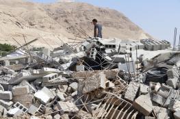 """الاحتلال يهدم منزلين في قرية الدويك غرب أريحا """"صور """""""
