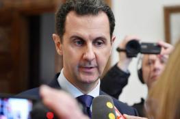 """بشار الأسد :"""" الشعب السوري لم ينتفض على حكومته ورئيسه """""""
