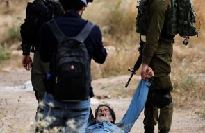 الاحتلال يعتدي  على متضامنين اجانب في منطقة يطا بالخليل
