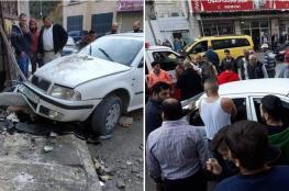 """وفاة مواطن وحفيدته في حادث سير مروع وقع في نابلس """"صور """""""