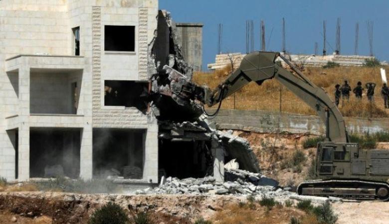 تقرير : الاحتلال هدم 21 مبنى فلسطيني خلال ايام