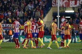 """برشلونة يفقد """"قلبه"""" في معركة أتلتيكو مدريد"""