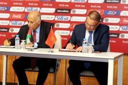 الرجوب ونظيره المغربي يوقعان أول اتفاقية رياضية بين البلدين
