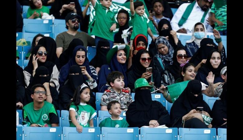 الجمعة تبدأ الملاعب السعودية السماح للنساء بمشاهدة المباريات