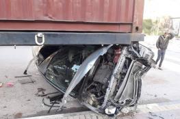 مصرع خمسة مواطنين واصابة 180 آخرين في حوادث سير بالضفة الغربية خلال الاسبوع الماضي