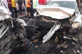 مصرع  مواطنة في حادث سير وقع جنوب نابلس