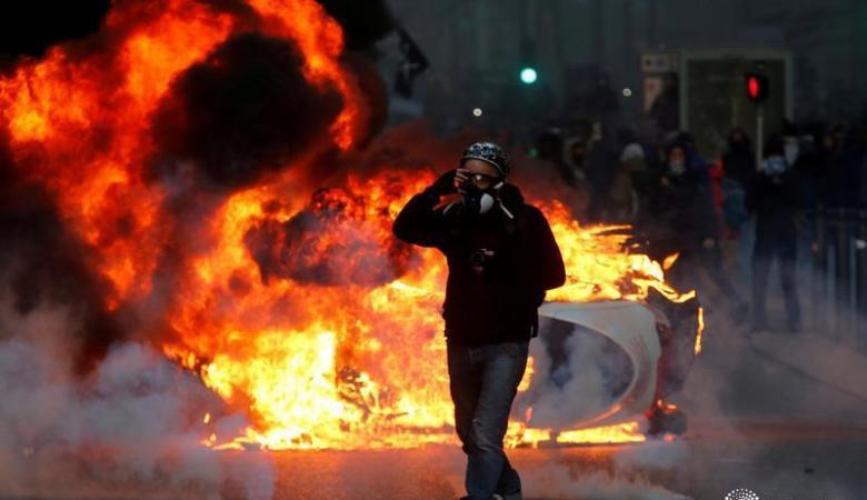 """فرنسا : ارتفاع عدد المصابين في احتجاجات """"السترات الصفراء"""" بباريس"""