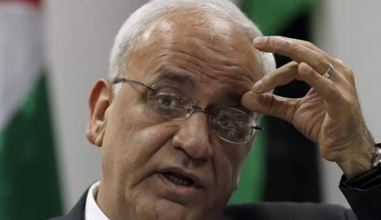 عريقات يطالب بتدخل دولي لردع اميركا واسرائيل