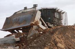 الاحتلال يواصل تجريف اراضي المواطنين قرب بلدة عرابة جنوب جنين