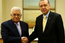 اردوغان يؤكد للرئيس : تركيا ستواصل دعم الفلسطينيين