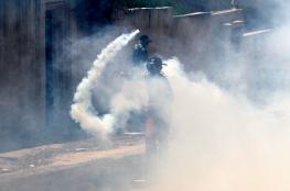 """اصابات في قمع الاحتلال لجنازة الشهيد """"نسيم ابو رومي """""""