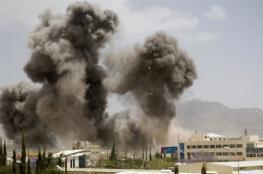 التحالف العربي يقصف معسكر دار الرئاسة في صنعاء