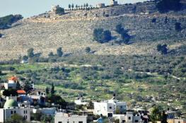 الاحتلال ينصب خياما في أراضي جبل المنطار شرق طولكرم
