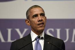 اوباما : الفلسطينيين سيكونون بحالة أفضل إذا رفضوا التحريض واعترفوا بشرعية إسرائيل