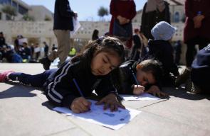 يوم دراسي في ساحة بلدية الاحتلال، لطلاب مدرسة صور باهر التي أغلقت بأمر من البلدية