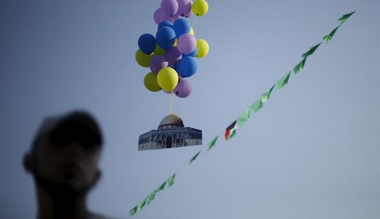 اطلاق بالونات حارقة من غزة صوب مستوطنات الغلاف