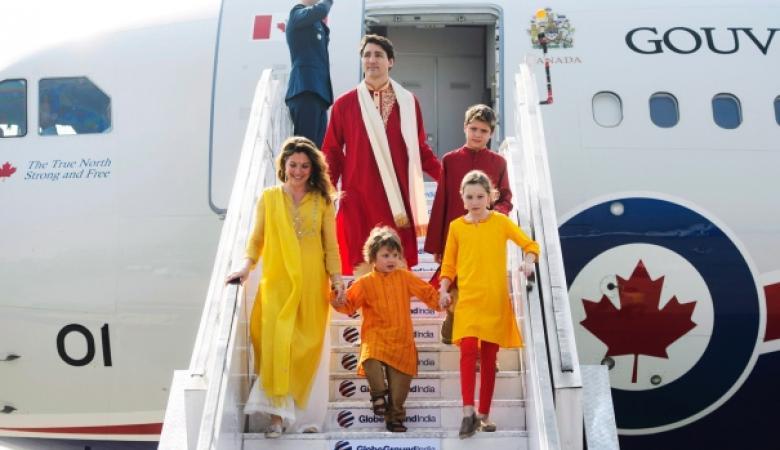 طائرة رئيس الوزراء الكندي تتعرض لاصطدام كبير