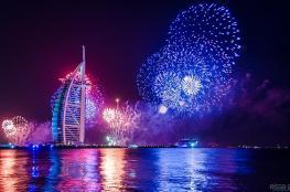 """دبي تستقبل """" 2 """" مليون زائر لاحياء ليلة رأس السنة"""