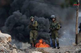 اصابة 13 مواطنا في مواجهات مع الاحتلال بالضفة الغربية