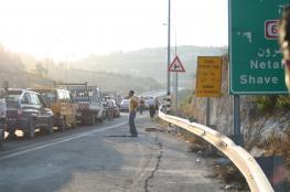 الاحتلال يعيد فتح طريق البيرة الجلزون بعد إغلاق لساعات