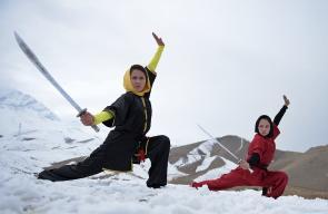 فريق رياضة الوشو النسائي بأفغانستان