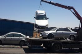 الشرطة تتلف 144 مركبة غير قانونية في جنين