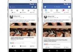 فيس بوك تطلق تصميمها الجديد لتنقل والتواصل عبر تغذية الأخبار