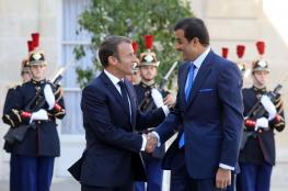 امير قطر يبحث العلاقة الثنائية مع الرئيس الفرنسي