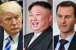 ترامب يرسل تهديداً مزدوجا للزعيم الكوري وبشار الأسد ..وهذا ما قاله