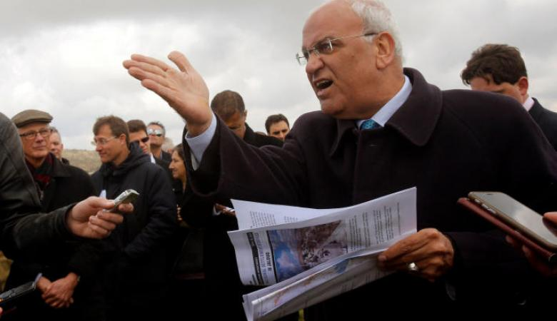 عريقات يطالب الاتحاد الاوروبي بالاعتراف بفلسطين