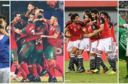 لأول مرة في التاريخ 4 منتخبات عربية تذهب مرة واحدة لنهائيات كأس العالم