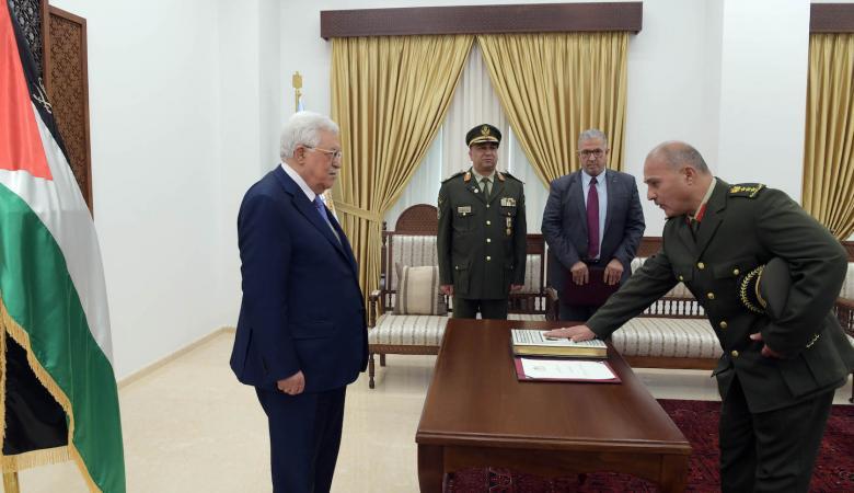 العميد عبد الناصر جرار يؤدي اليمين أمام الرئيس نائبا عاما عسكريا