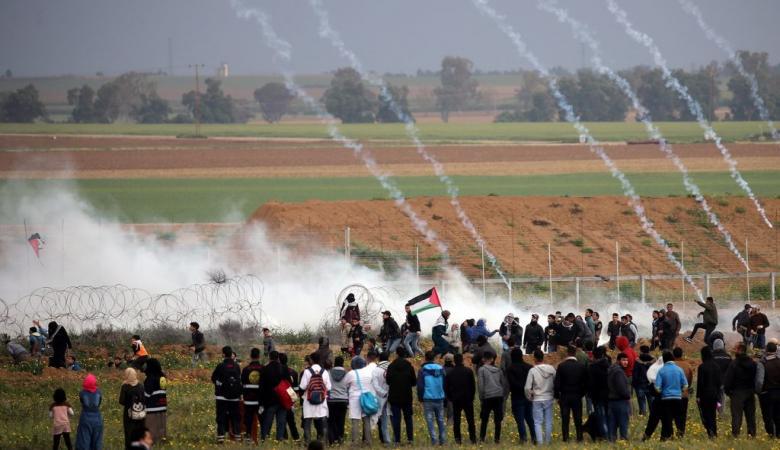 اصابات في قمع الاحتلال لمسيرات العودة شرق غزة