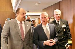 وزير الدفاع القطري يلتقي بنظيره الامريكي في سنغافورة