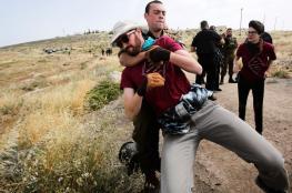 الاحتلال يعتقل نشطاء فلسطينيين ومتضامنين أجانب في الخليل