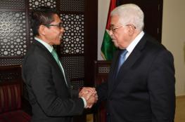 الرئيس يثمن موقف سنغفورة الداعم لفلسطين