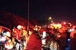 وفاة مواطن وسبع إصابات خطيرة بحادث تصادم مركبتين في قلقيلية